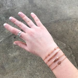 Jewelry - Set of 4 Rose Gold Bracelets